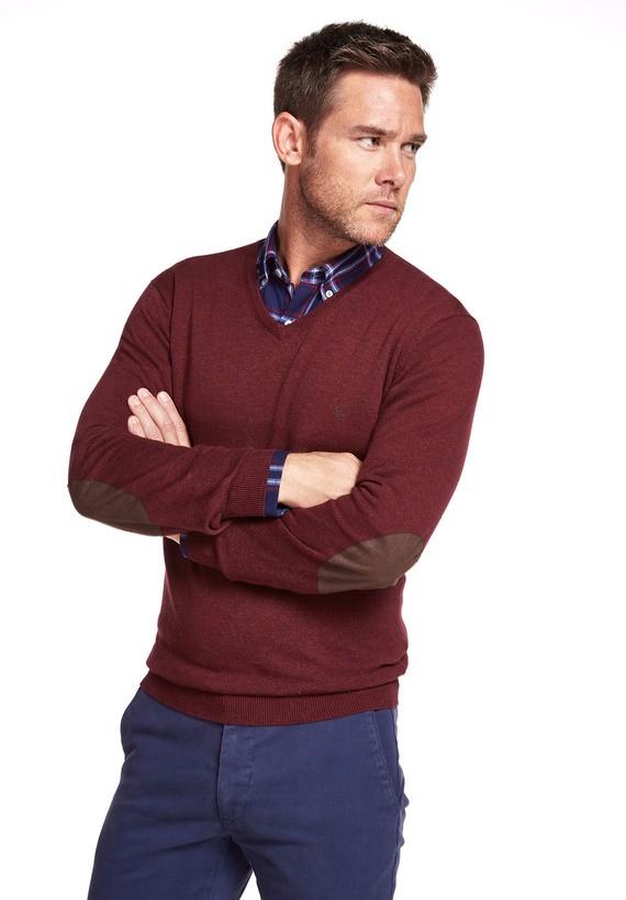 Jersey de pico algodón coderas