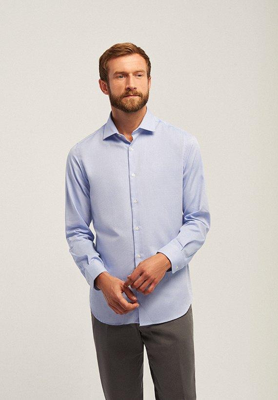 Camisa vestir slim - Celeste