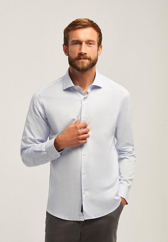 Camisa vestir básica - Celeste