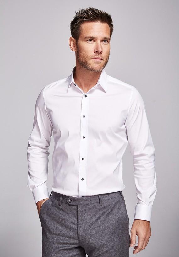 Camisa cuello inglés slim