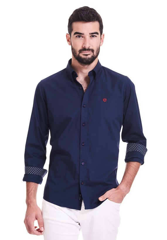 Camisa vestir sport slim