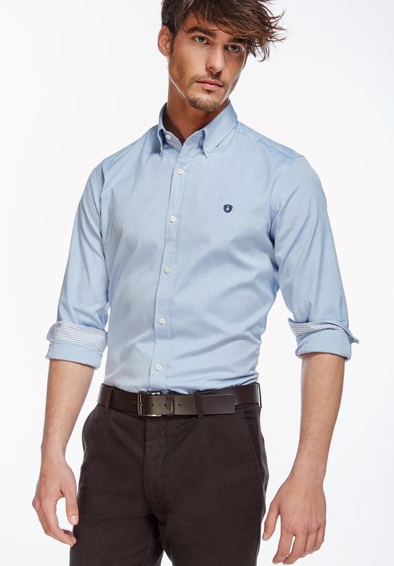 Camisa clásica Oxford - Azul