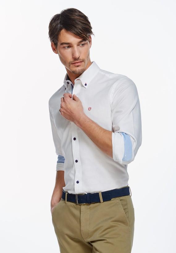 Camisa micro estructura slim - Blanco
