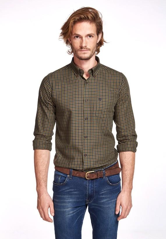 Camisa algodón sarga regular