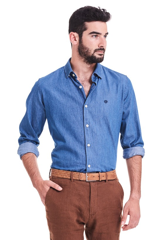 Camisa vaquera sport slim