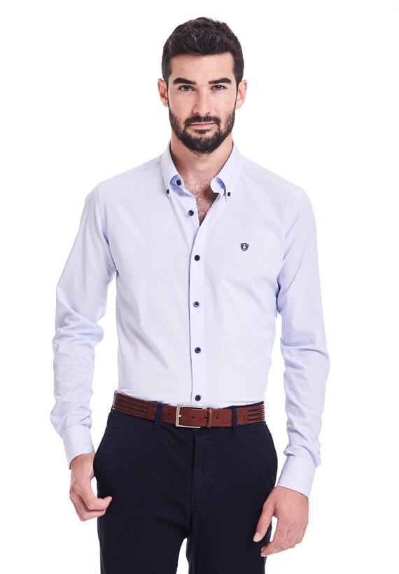 Camisa polelín mil rayas regular