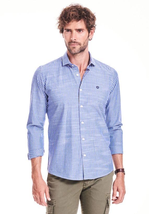 Camisa slim de rayas
