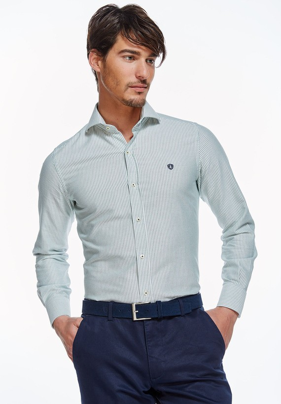 Camisa rayas oxford slim