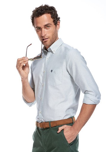 Camisa rayas oxford regular
