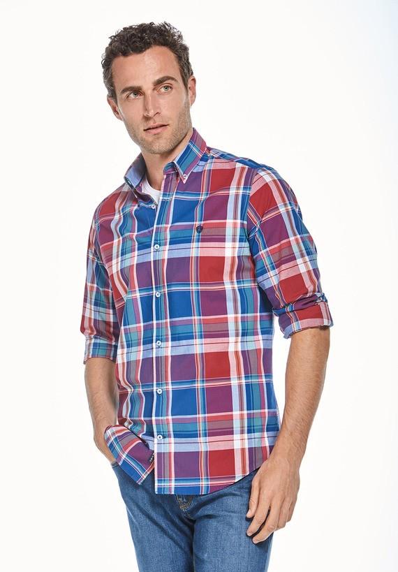 Camisa cuadros sport regular
