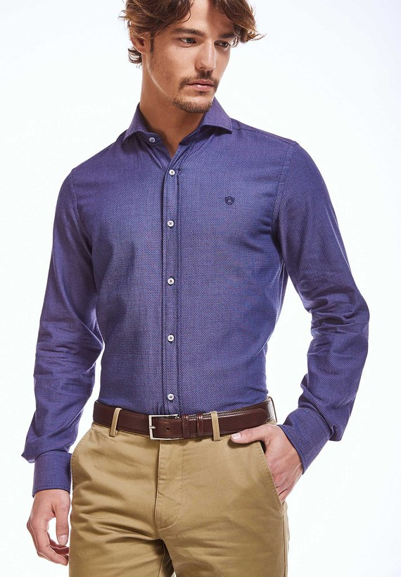Camisa indigo slim