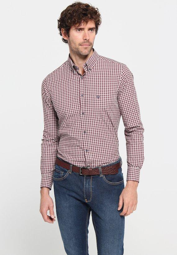 Camisa cuadro vichy regular
