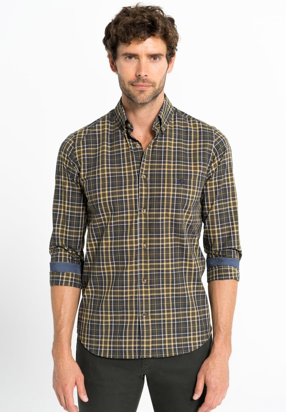 Camisa cuadros regular