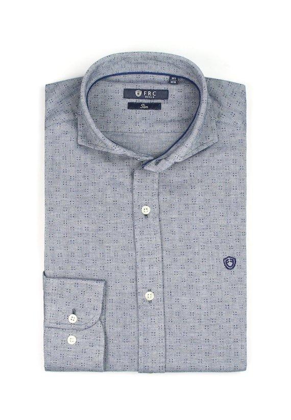 Camisa slim de punto