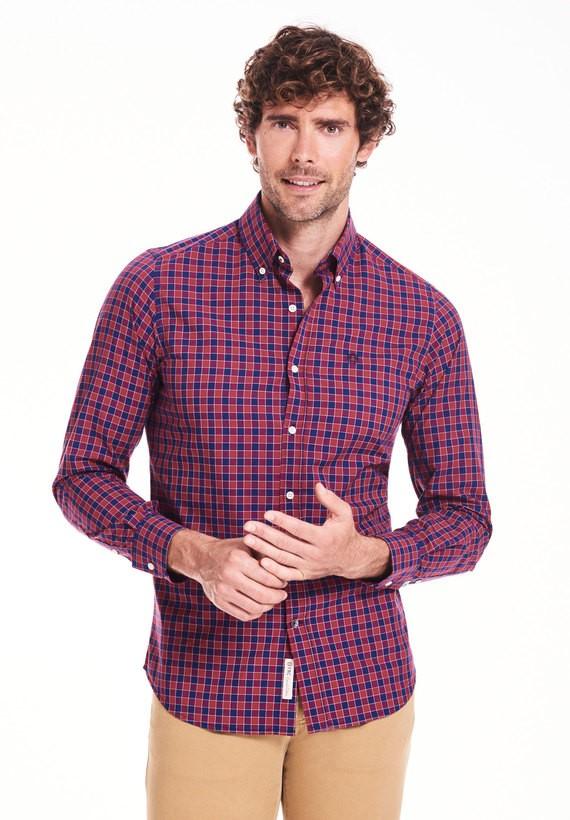 Camisa sport de cuadros bicolor