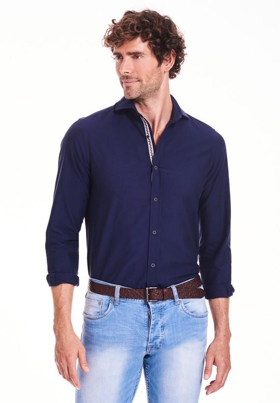 Camisa lisa con con cinta ética