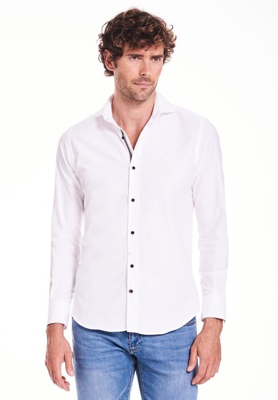 Camisa lisa con con cinta étnica