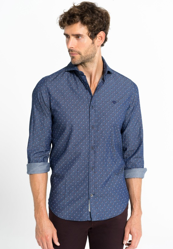 Camisa denim fantasía regular