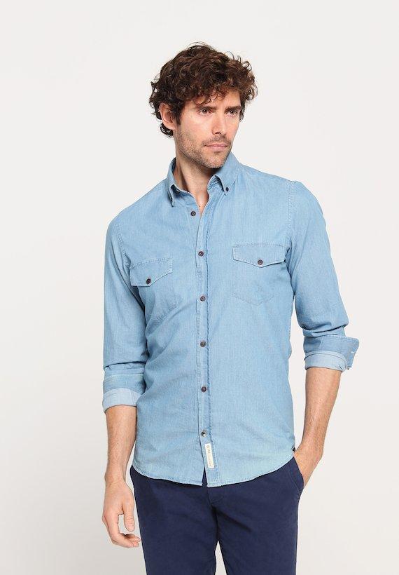 Camisa denim regular