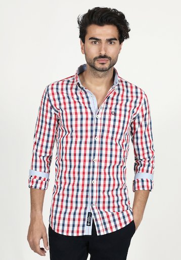 Camisa regular fit de cuadros
