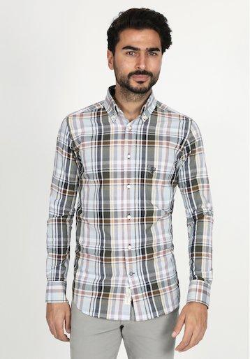 Camisa regular sport de cuadros