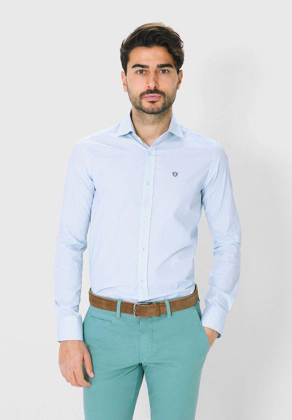 Camisa regular fit con estampado de flores - Green