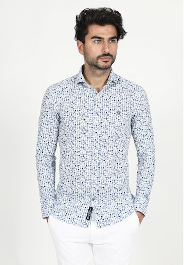 Camisa slim fit de flores