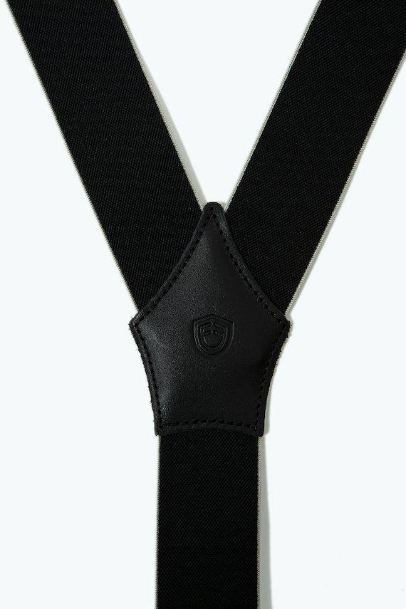 Tirantes elásticos liso - Negro