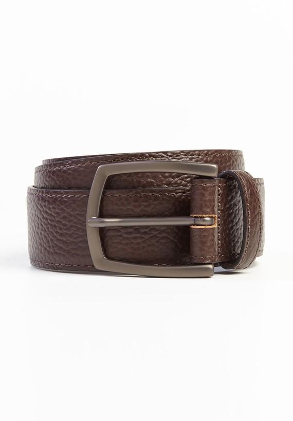Cinturón piel efecto cuarteado fino