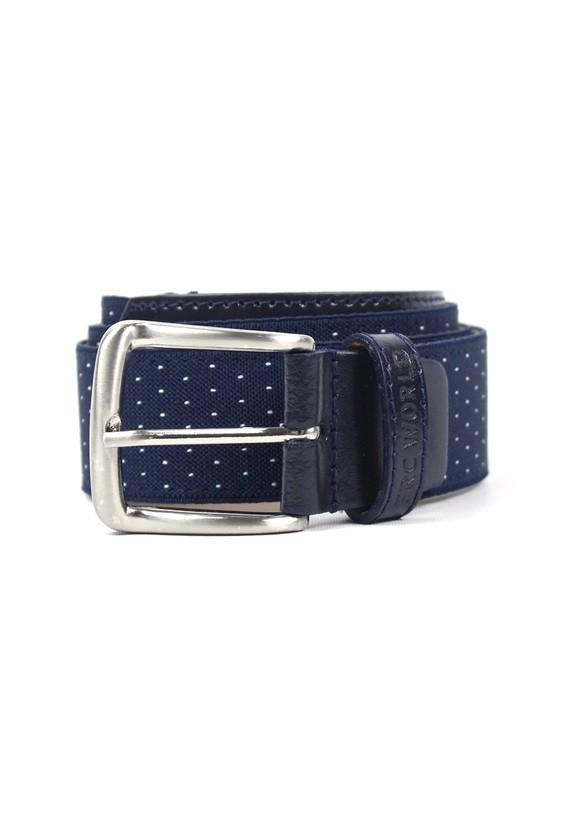 Cinturón con dibujo puntadas - Marino
