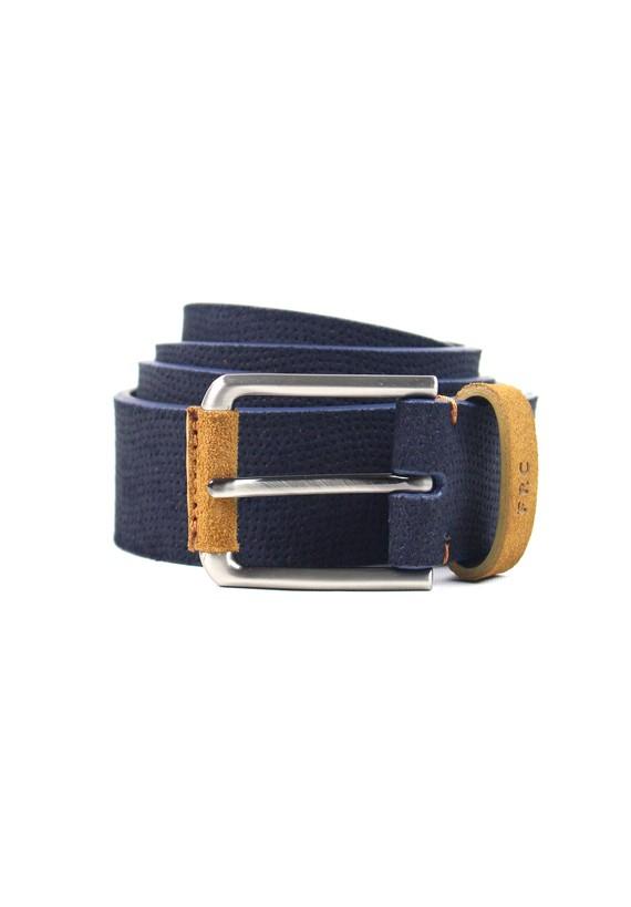 Cinturón de serraje - marinho