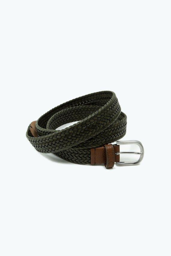Cinturón con diseño trenzado - Verde