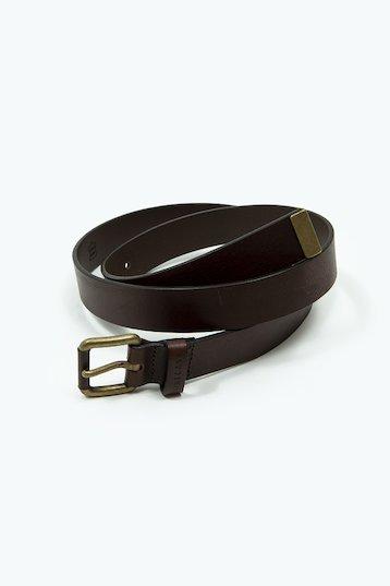 Cinturón piel lisa en marrón