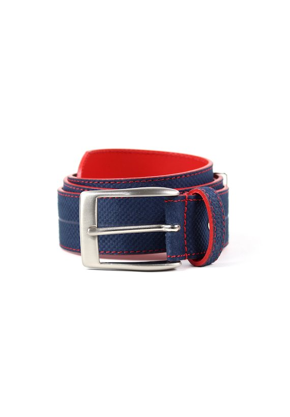 Cinturón textura con contraste - marinho