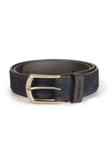 Cinturón combinado de piel