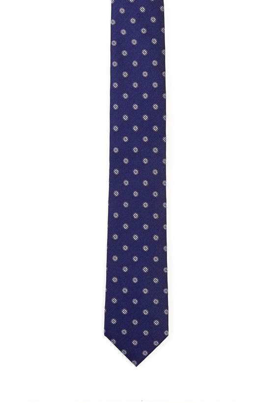 Corbata seda estampado floral