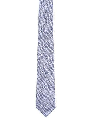 Corbata de lino rayas