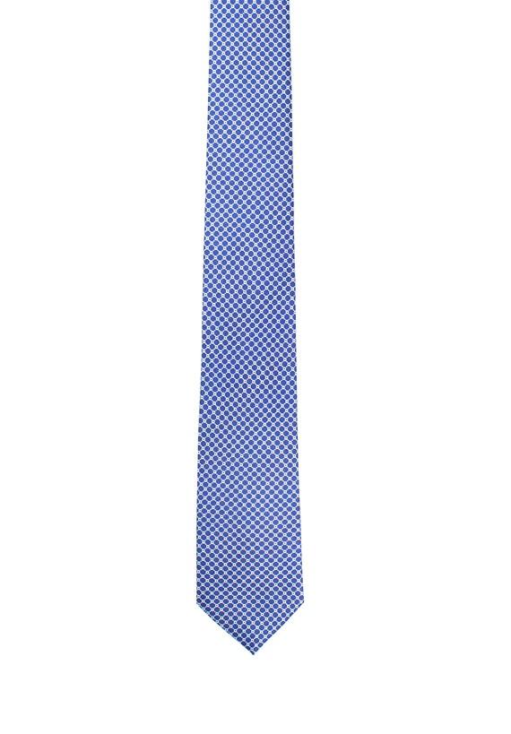 Corbata de seda estampado malla
