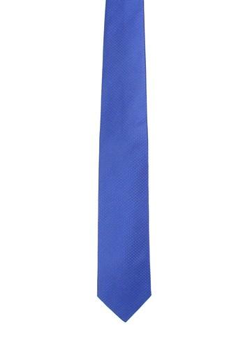 Corbata de seda azul
