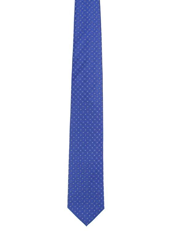 Corbata de seda azul marino