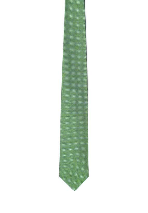 Corbata de seda verde