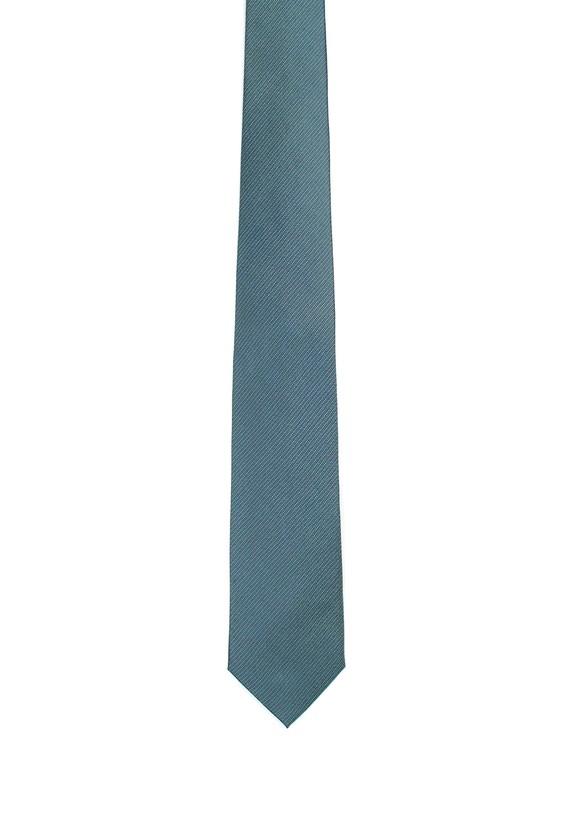 Corbata de seda azul y verde