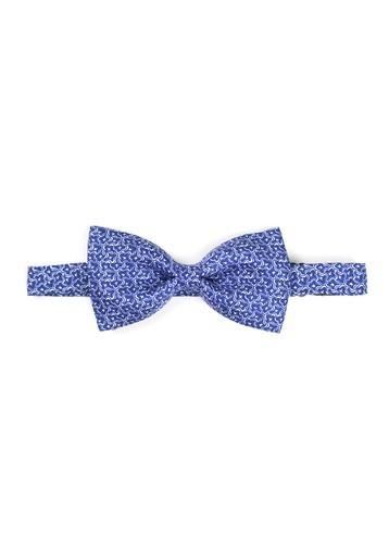 Pajarita de fantasía en blanco con fondo azul