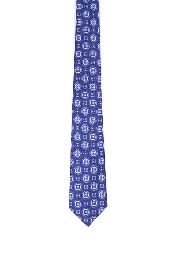 Corbata de seda azul - Marino