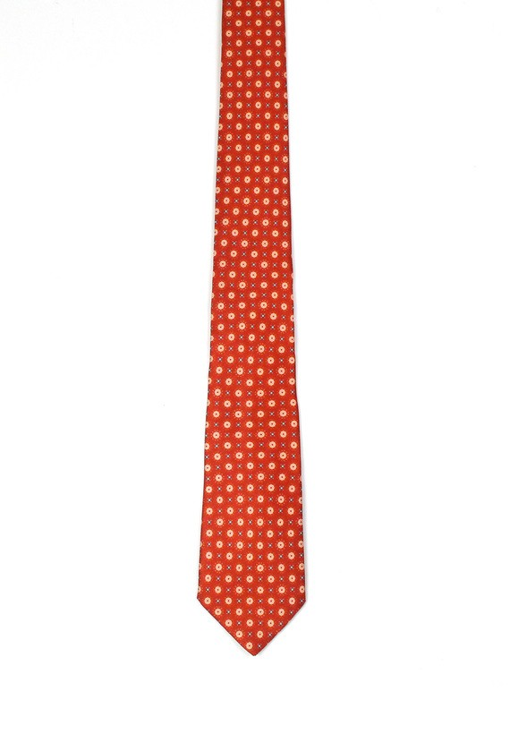 Corbata de seda roja - Naranja