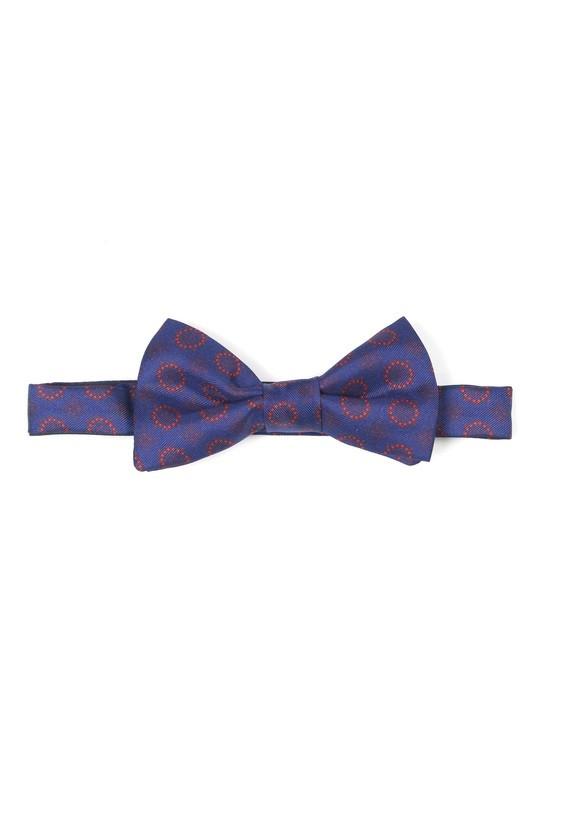 Pajarita azul con estampado - Marino