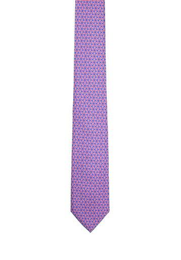 Corbata de seda estampada