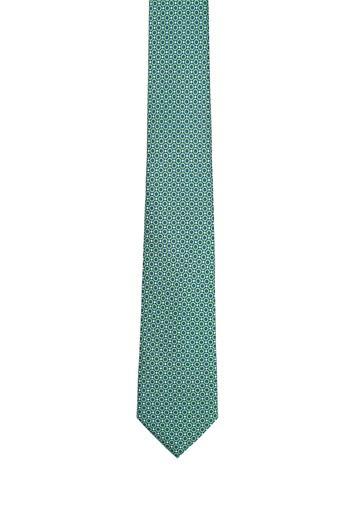 Corbata de seda topos verdes