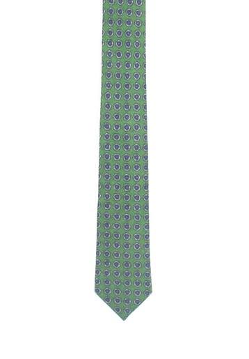 Corbata verde de lana