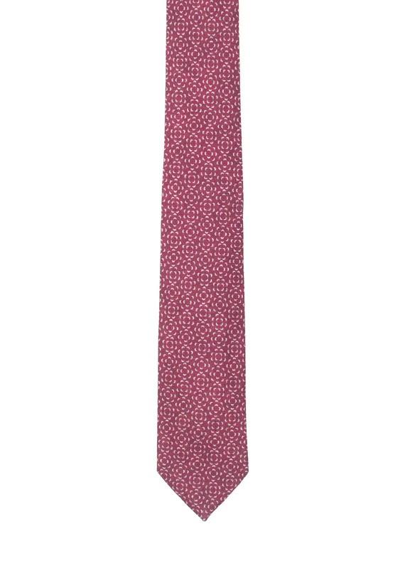 Corbata burdeos con estampado geométrico